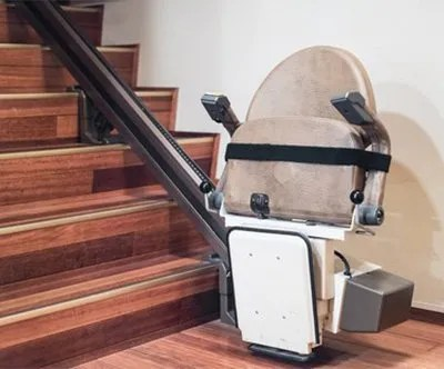 stair lift chair yellow leather side fairhope al edco elevators we take pride in our work