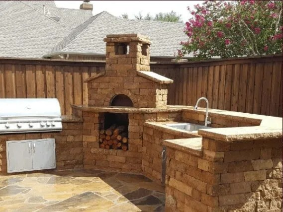 outdoor kitchen oven organizer kitchens pizza ovens poughkeepsie ny fairview hearthside wood fired a made of bricks in