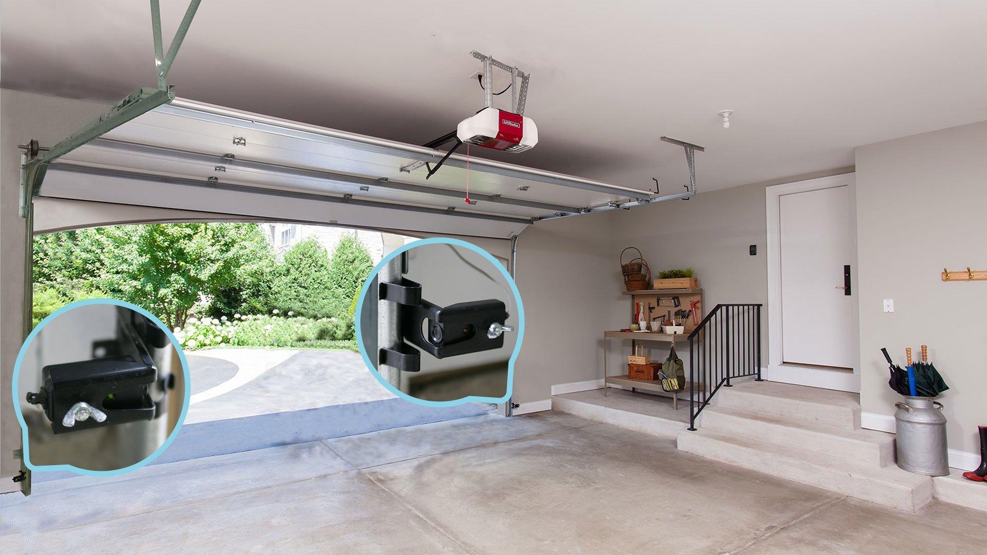 Garage door will not shut and goes back up
