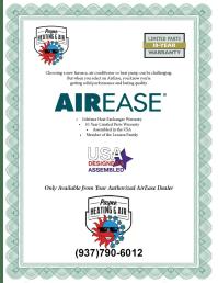 Manufacturers' Warranties | Payne Heating & Air LLC ...