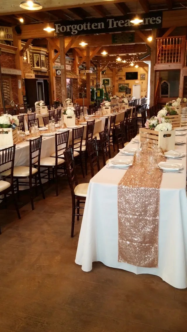 chair cover rentals rockford il revolving with armrest wedding candelabras machesney park north rental service inc of has many different sizes and shapes tables we also have a wide variety chairs such as plastic