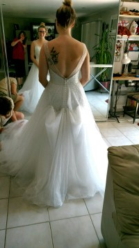 Bustle on tulle dress: Show me yours!