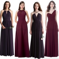 Wine Colored Bridesmaid Dresses | All Dress