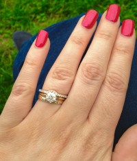 Stacking rings. Can I wear a thin diamond eternity ring ...