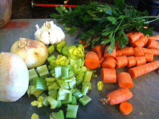 bone broth vegetables