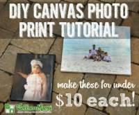 DIY Canvas Photo Print Tutorial - Wellness Mama