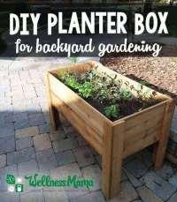 DIY Planter Box Tutorial for Patio or Balcony   Wellness Mama