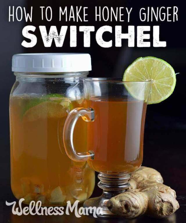 How to make honey ginger switchel