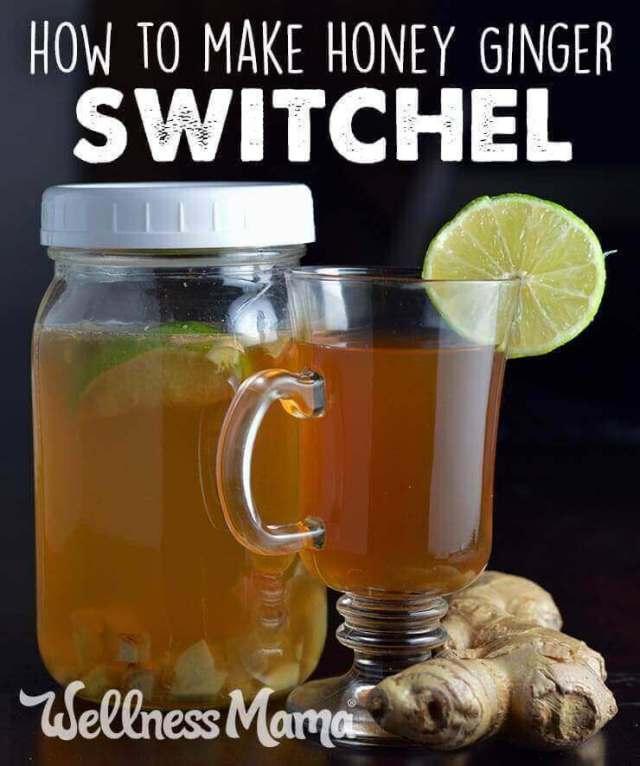 How to make honey ginger switchel