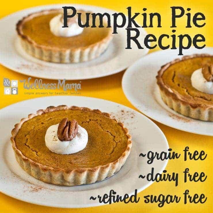 Pumpkin Pie Recipe - Grain free- Dairy Free-Sugar Free