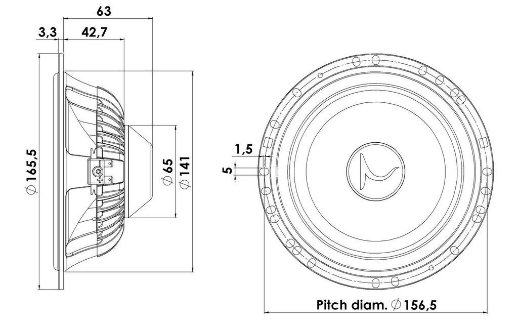 "16W/4434G00 Scan-Speak 6"" Mid-Woofer Automotive, Speaker"