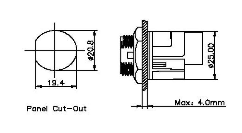 Rj45 Panel Socket 180° Bayonet, Chogori Rj45 Series