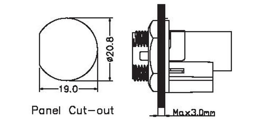 Rj45 Panel Socket Metal Screw, Chogori Rj45 Series