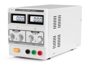 DC LAB POWER SUPPLY 0-30 VDC / 0-3 A MAX WITH DUAL LCD DISPLAY