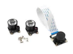 CAMERA MODULE WITH 2 IR LIGHTS FOR RASPBERRY PI®