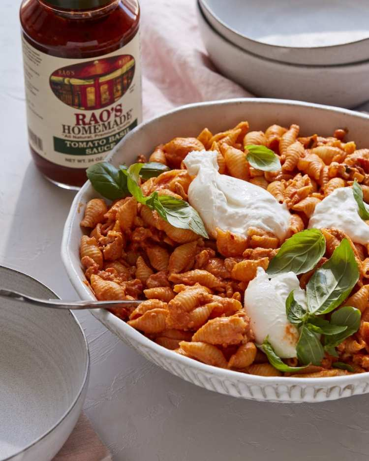 Creamy Tomato Burrata Pasta from www.whatsgabycooking.com (@whatsgabycookin)