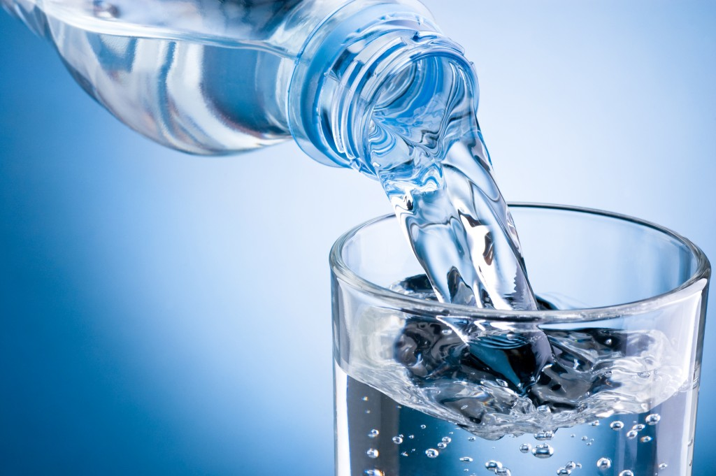 drinking water less workout