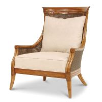 Palecek Dunhill Grand Lounge Chair 7377 Rattan Wicker ...