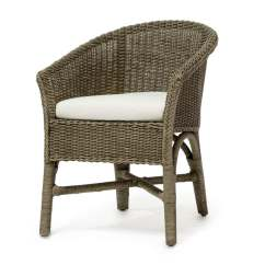 Paris Bistro Chairs Outdoor Wrought Iron Lounge Chair Cushion Palecek 7401 Wicker Rattan