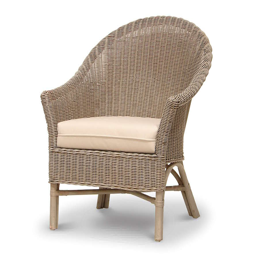Palecek Bistro High Back Chair 7408 Wicker Rattan