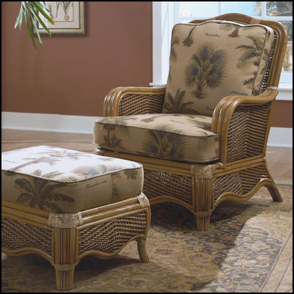 Braxton Culler Shorewood Chair 1910001  Rattan Wicker