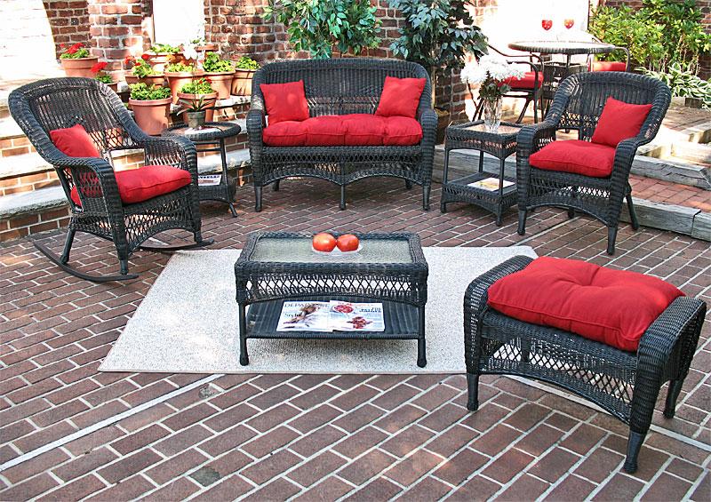 wicker black bel aire outdoor resin