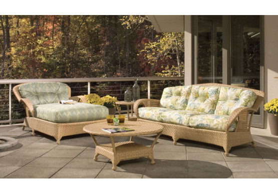 5 piece cambridge all weather wicker set with cushions