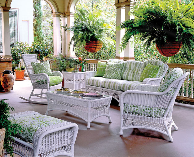 whitecraft by woodard sommerwind 5 piece seating group