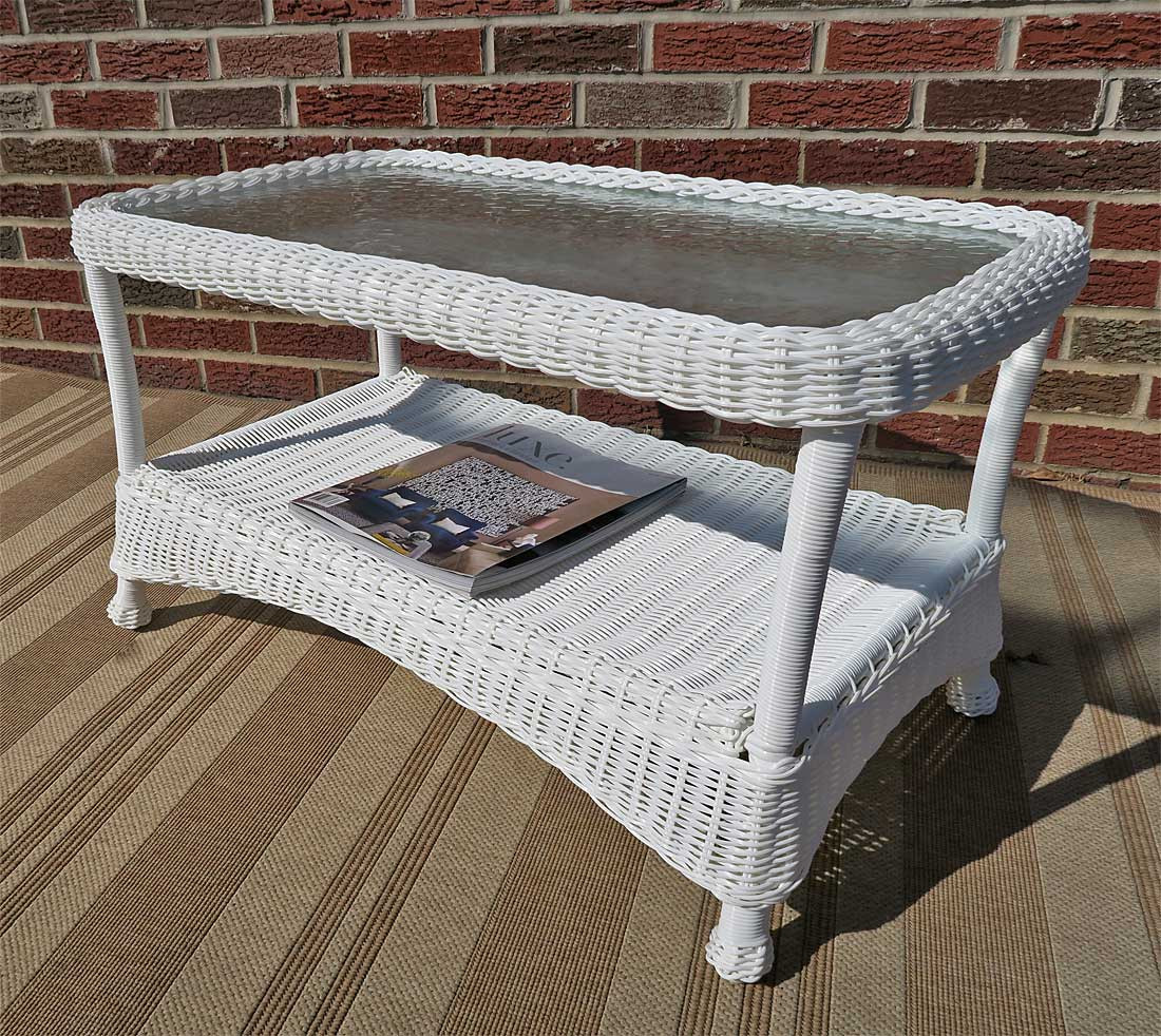 veranda resin wicker cocktail or coffee table
