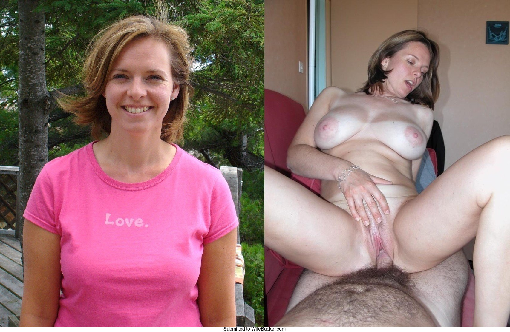 WifeBucket  Beforeafter sex pics from real amateur wives