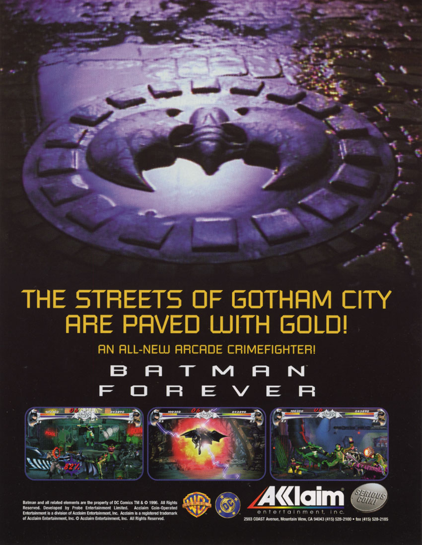 Batman Forever The Arcade Game  StrategyWiki the video