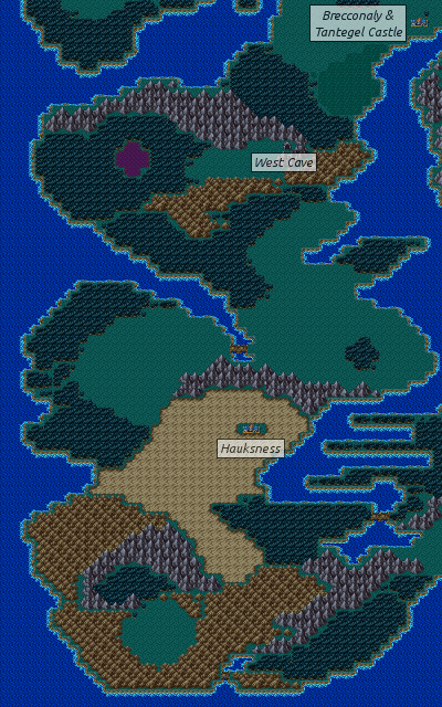 Dragon Quest 3 Map : dragon, quest, Dragon, Warrior, III/West, South, Alefgard, StrategyWiki,, Video, Walkthrough, Strategy, Guide