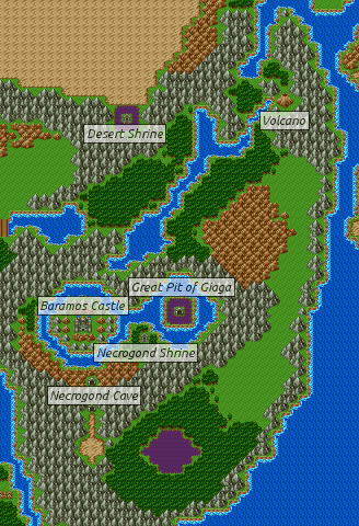Dragon Quest 3 Map : dragon, quest, Dragon, Warrior, III/Cave, Necrogond, StrategyWiki,, Video, Walkthrough, Strategy, Guide