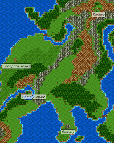 Dragon Quest 3 Map : dragon, quest, Dragon, Warrior, III/Romaly, StrategyWiki,, Video, Walkthrough, Strategy, Guide