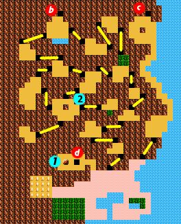 Legend Of Zelda 2 Map : legend, zelda, Zelda, Adventure, Link/Death, Mountain, StrategyWiki,, Video, Walkthrough, Strategy, Guide