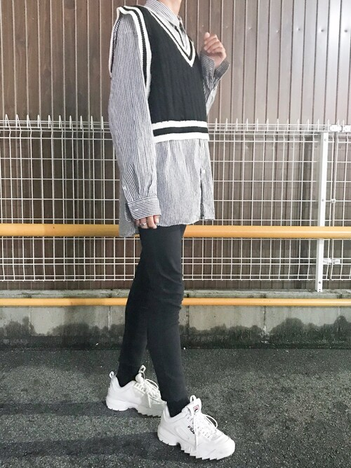 HiRoKi|FILAのスニーカーを使ったコーディネート - WEAR