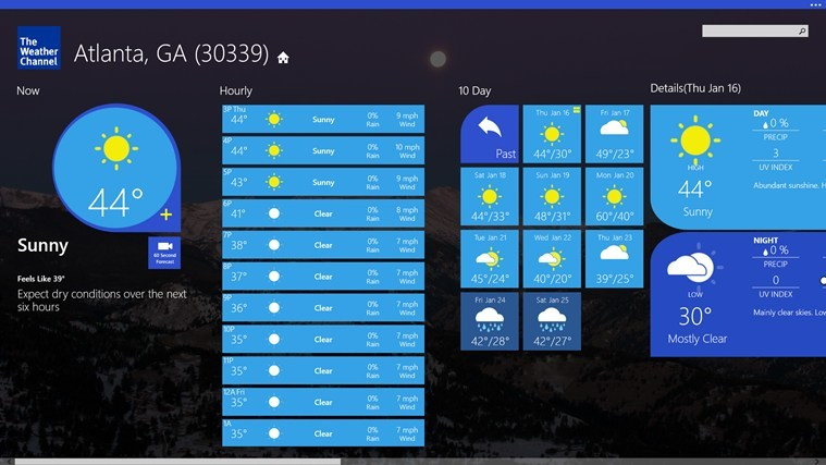 repair the windows weather channel app