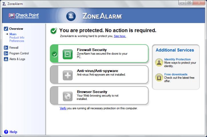 ZoneAlarm firewall