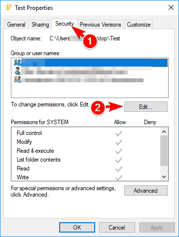 Word could not create the work file error message when you