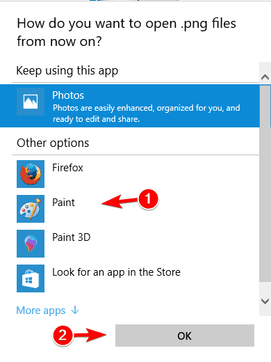 how to you want to open file from now on png thumbnails not showing windows 10