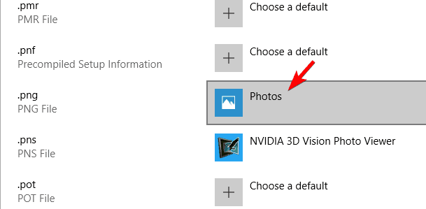 file extensions choose a default app png thumbnails not showing windows 10