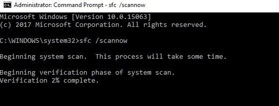 bitlocker fatal error sfc /scannow cmd