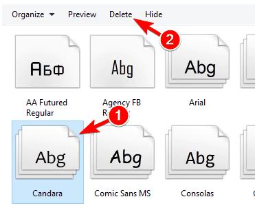 Font blurry windows 10 delete font
