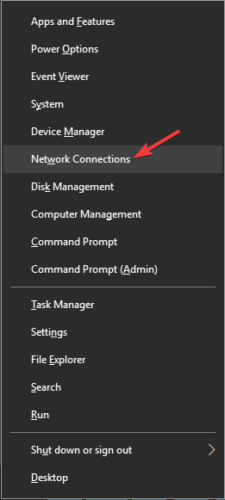 A network change was detected err_network_changed