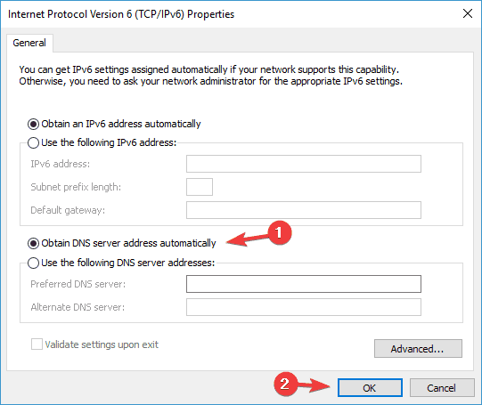 A network change was detected Windows 8