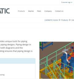 cadmatic 3d plant design is a powerful darabase drive tool that gives you tools for creating 3d layouts piping hvac cable tray and structural designs of  [ 1168 x 680 Pixel ]