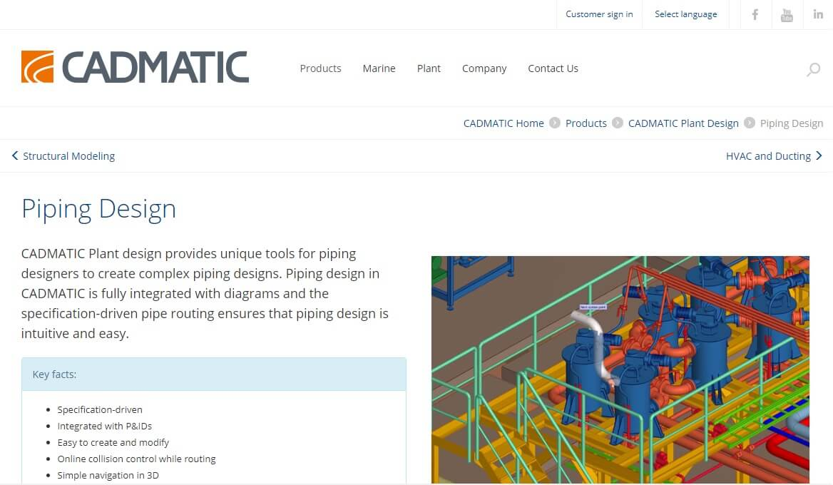 hight resolution of cadmatic 3d plant design is a powerful darabase drive tool that gives you tools for creating 3d layouts piping hvac cable tray and structural designs of