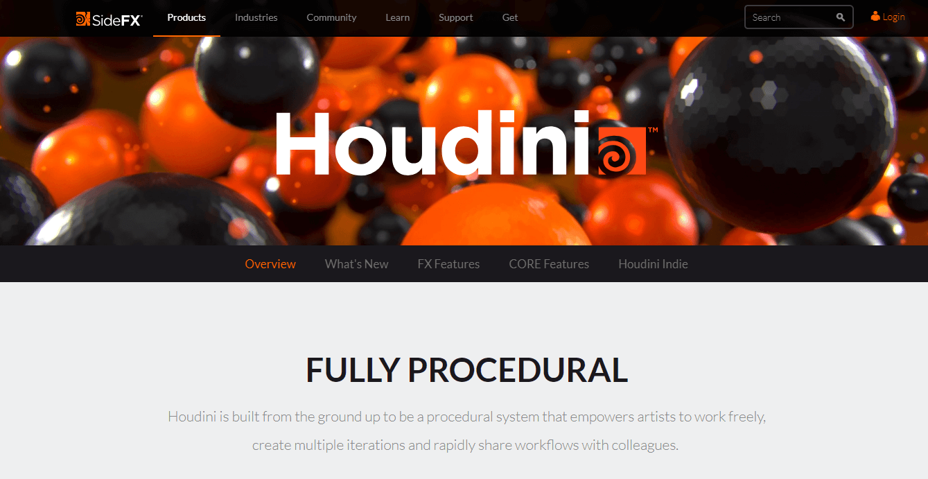 Houdini Side FX - VFX software