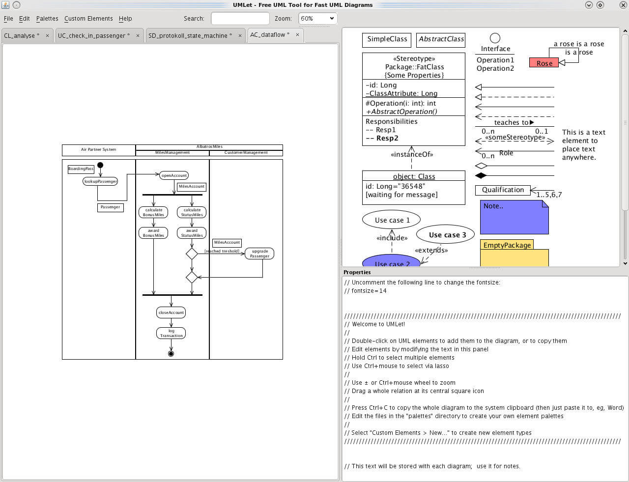 hight resolution of umlet is a straightforward design tool with which users can quickly set up uml diagrams this is open source software for all windows platforms that you can