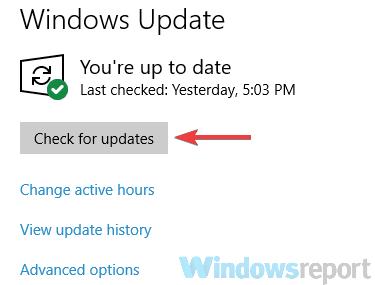 check for updates media center error